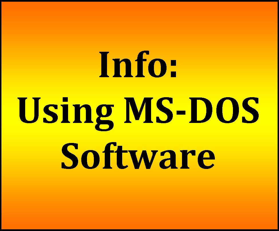 <MS-DOS & information>